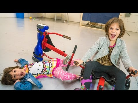 Twins Crash the Hoverboard Go Karts!! Pink Hulk Bloopers, Behind the Scenes | Twin Family Fun Vlogs