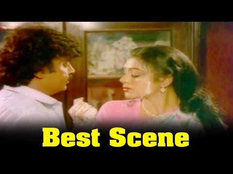 Ponmana Selvan Movie : Shobana Misunderstanding By Vijayakanth Best Scene