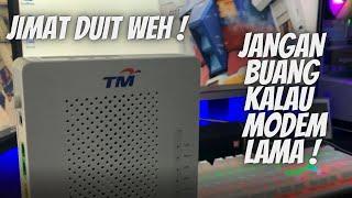 CARA TUKAR MODEM LAMA JADI ACCES POINT WIFI 5G DAN LAN ETHERNET