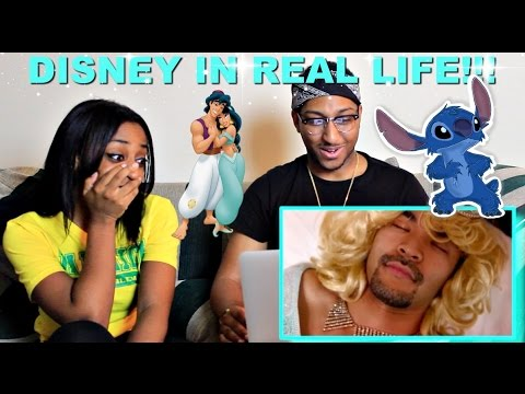 Couple Reacts : Disney Movies In Real Life By Nigahiga Reaction