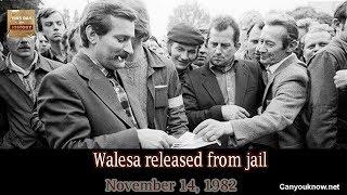 Walesa Released From Jail November 14 1982