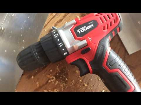 Hyper Touch 18v Lithium ion drill in action (TEST ON ALUMINIUM, WOOD AND BREAK)