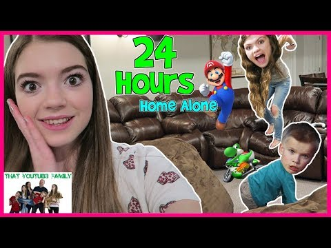 24 Hour Home Alone NO PARENTS! Teens Babysit / That YouTub3 Family