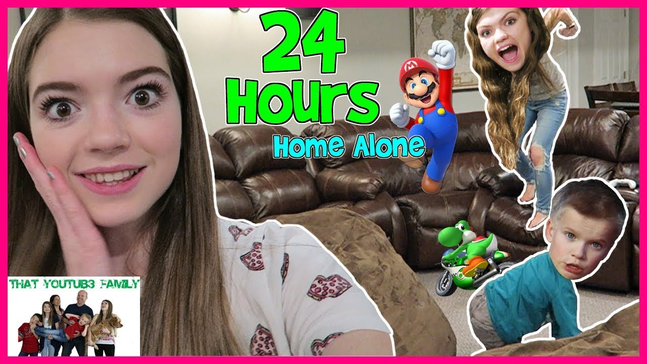 24 Hour Home Alone No Parents Teens Babysit That Youtub3 Family