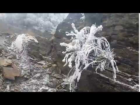 First Snow of Winter in Taiwan Captured on Yushan Mountain