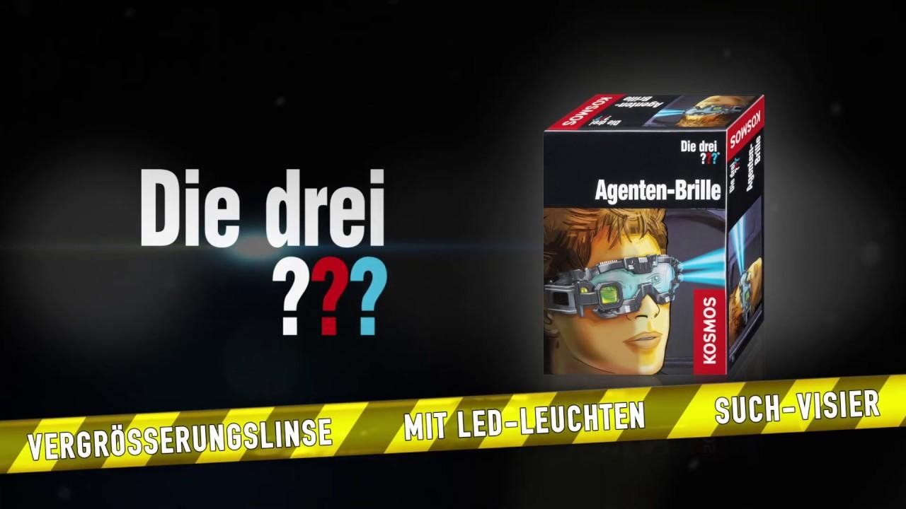 KOSMOS Detektive Die drei ••• Agenten-Brille Brille Detekti...
