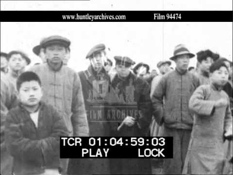 Shanghai Racecourse in 1937.  Archive film 94474