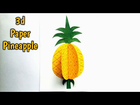 How to make paper pineapple - 3d craft - easy - nupur's handicrafts