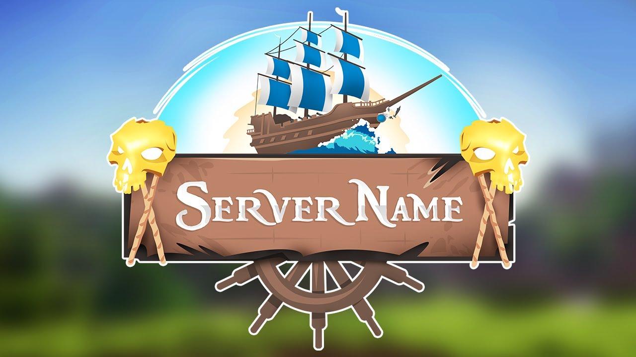 Minecraft Server Logo - `Pirate Ship` (Template Logo Maker)