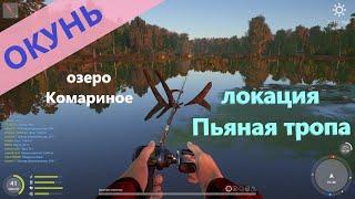 Русская рыбалка 4 - озеро Комариное - Окунь под корягой