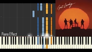 Daft Punk - Get Lucky (Piano Tutorial Synthesia)