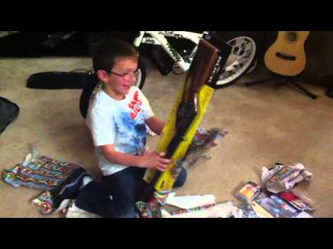 Son get BB gun for Christmas , brother freaks out !