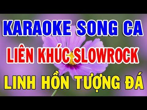 Karaoke Song Ca Liên Khúc Nhạc Slowrock Dễ Hát Nhất  Nhạc Sống Karaoke Ai Cũng Hát Được