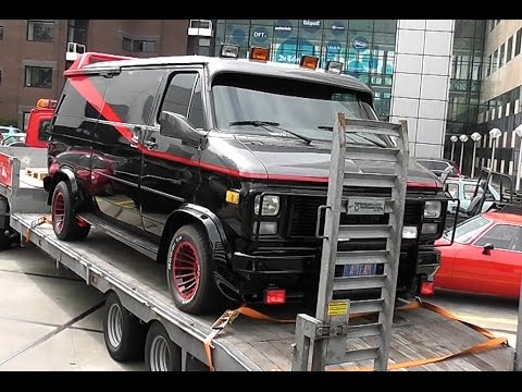 The A-Team GMC Van arriving at Cars & Coffee Amsterdam 21-05-2016