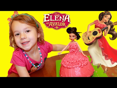 Elena of Avalor BIRTHDAY CAKE DIY Easy Barbie Cake + Ava's Birthday and Park Day