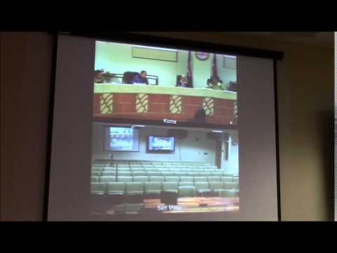 Hawaii County Council Aquarium Fishing discussion 2/7/15