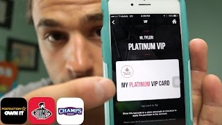 How to become a Platinum VIP on footlocker, champs and footaction app