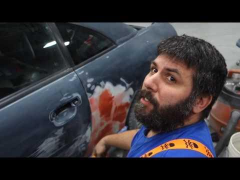 Captain's Blog 1 14 2017 Painting My Car Day 2 3 Bondo, Masking, and Primer