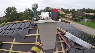 Jak zrobić szczelne opierzenie komina ? #40 Jak wybudować dom ? Tytan cynk . Dzień 44