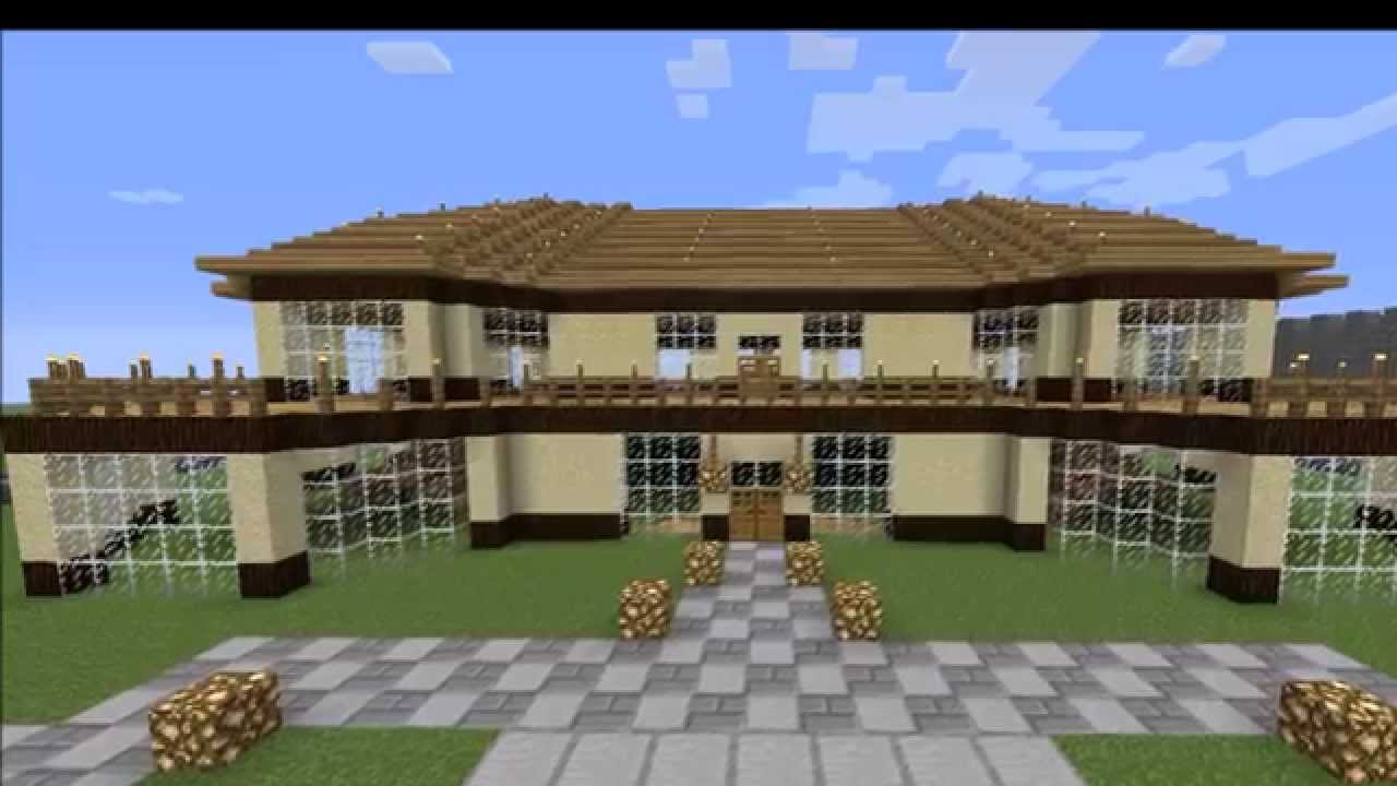 Minecraft riesiges haus 1 youtube for Minecraft modernes haus download 1 7 2
