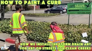 How To Paint A Curb with ArtStart