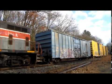 Ex Bangor & Aroostook GP7u On POED At Montague Station. 11/24/14
