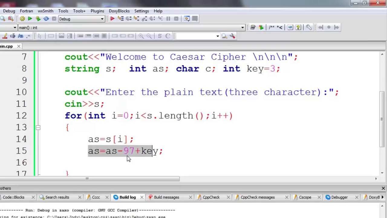 12 Caesar Cipher Encryption and Decryption in C++ in Kurdish ,Lecture 12