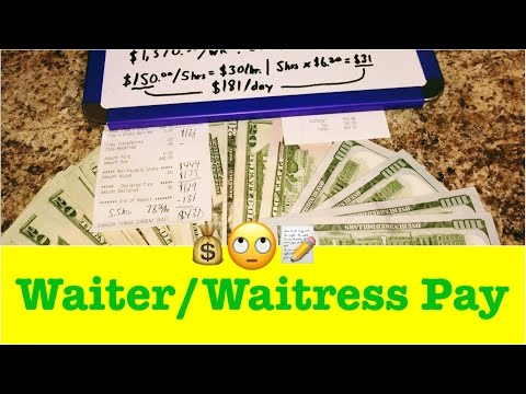 🍽🍷How Much Does a Waiter or Waitress Make? How Much I Make as a Server... Quick Cash Review