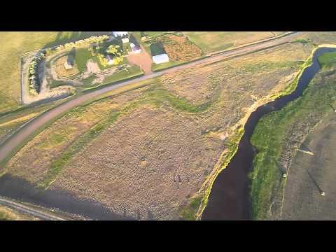 Drone flight over