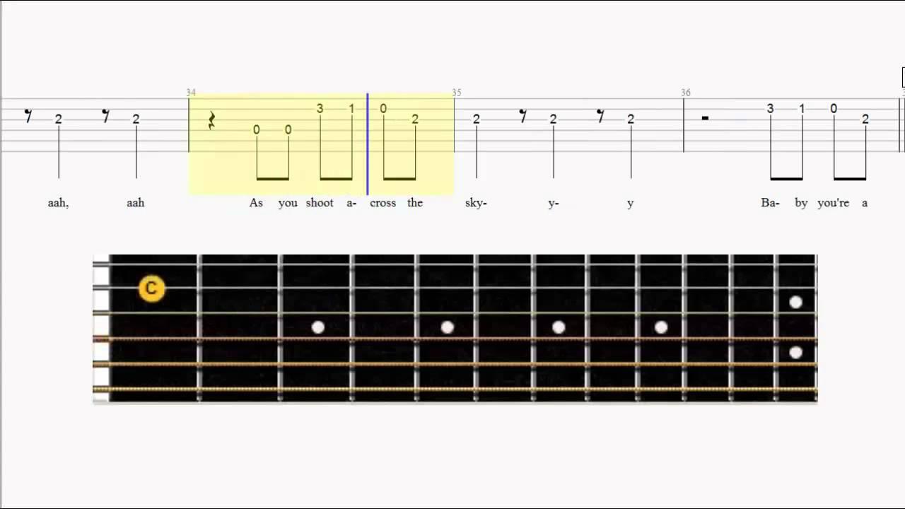 Guitar Tab Katy Perry Firework Easy Guitar Fingerboard Youtube