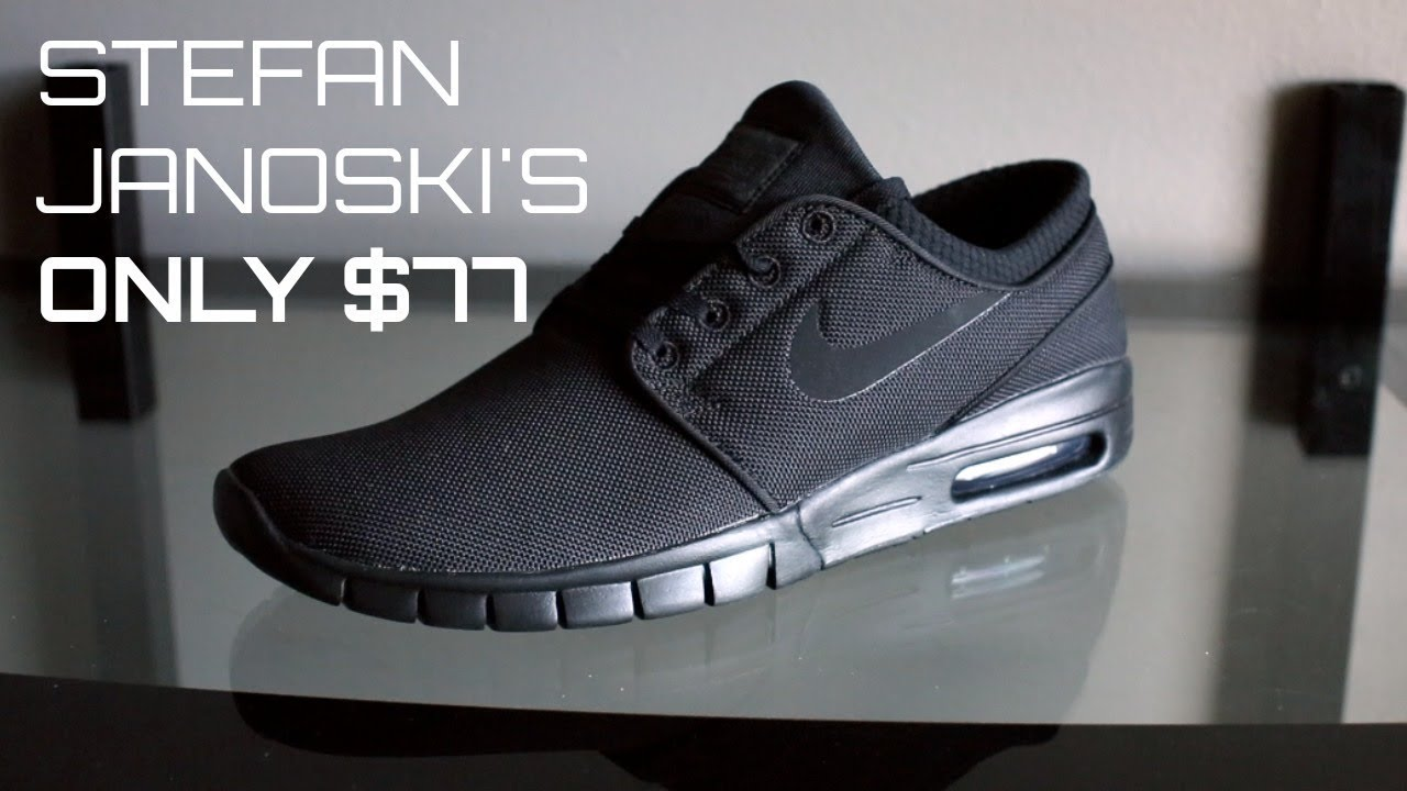 986d7c98a0a NIKE STEFAN JANOSKI max black anthracite SHOES - YouTube
