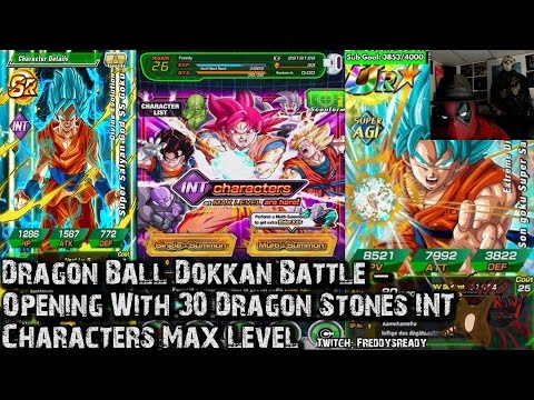 Dragon Ball Dokkan Battle - Opening With 30 Dragon Stones INT Characters Max Level