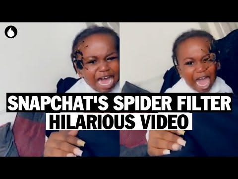 Seaman Sam's Daily Dose of Cute - Mom Scares Her Child With Snapchat's Spider Filter