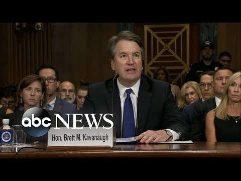 Brett Kavanaugh delivers opening statement at hearing