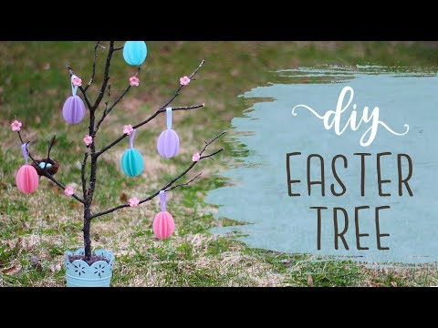 DIY Easter Tree Tutorial! 🐣 Easter Crafts & Decorations