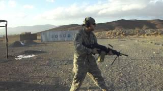 Firing a Mk48 7.62 SAW in Afghanistan