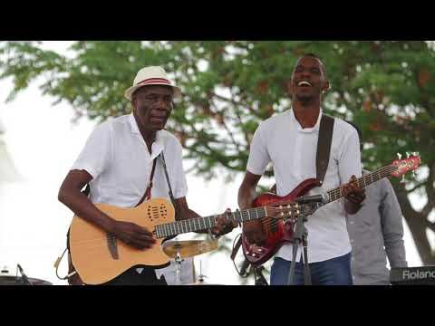 Oliver Mtukudzi performing at Robert Gabriel Mugabe International Airport
