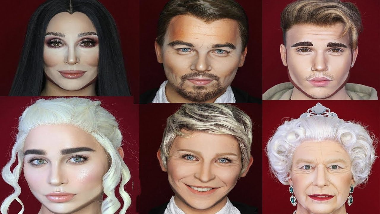 guy transforms himself into any celebrity using makeup - youtube