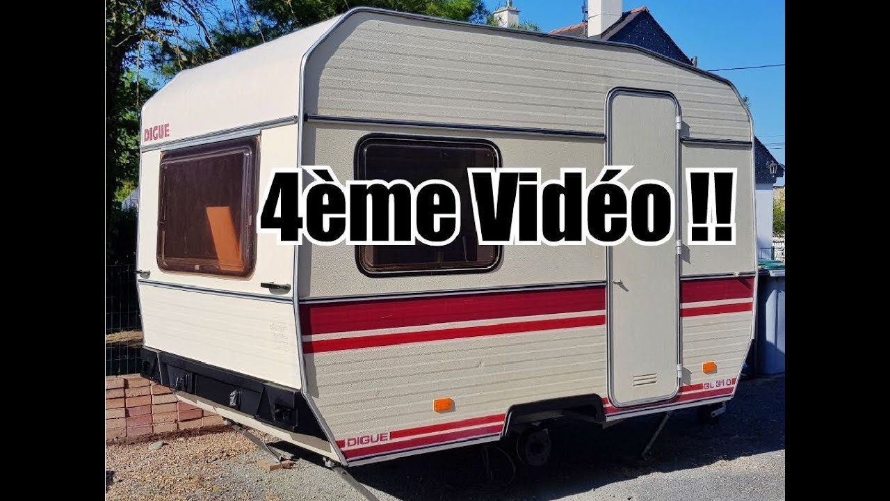 timelapse restauration caravane digue 4 me partie peinture ext rieur coffres placard. Black Bedroom Furniture Sets. Home Design Ideas