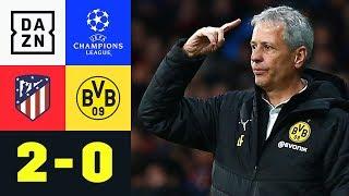 Serie gerissen: Niederlage für Lucien Favre: Atletico – Dortmund 2:0 | Champions League | Highlights