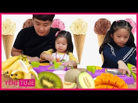 과일  & 아이스크림 레니가 좋아하는 아이스크림 만들기 마더스픽 매직 아이스크림 트레이 DIY Handmade ... [ 예니튜브 YENI TUBE ]