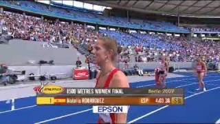 natalia rodriguez gets disqualified from women s 1500m wc athletics 2009