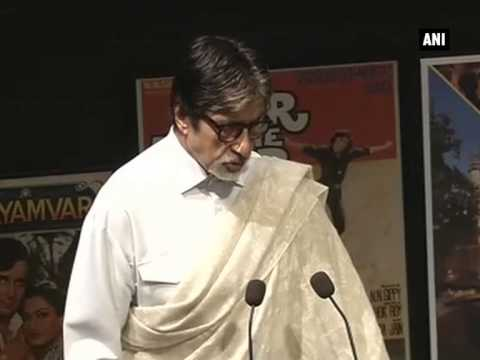 Amitabh Bachchan speaks after Shashi Kapoor gets Dadasaheb Phalke Award