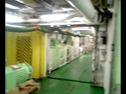 Ship engine room m v ventura p o cruise youtube for P o ventura dining rooms