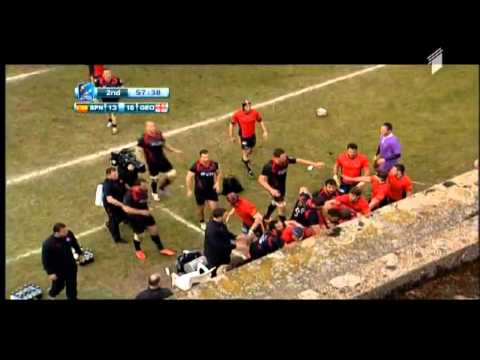 rugby fight. Spain vs Georgia