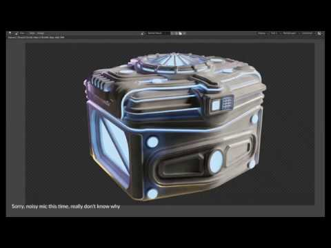 Blender 2 80 - Sci Fi Crate Speed Modeling