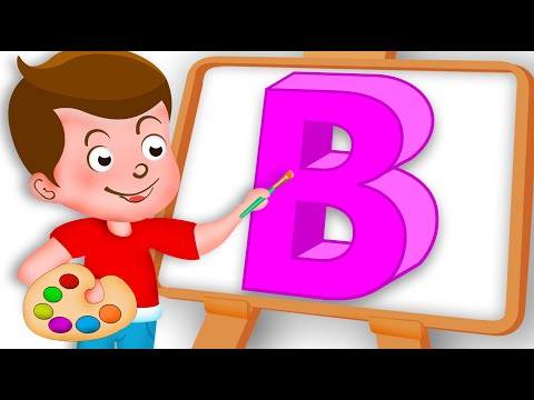 Drawing Alphabet B Letter coloring painting for kids Kids Drawing TV