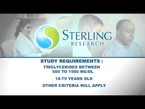 Sterling Research | High Triglycerides | Clinical Research Study | Cincinnati, Ohio