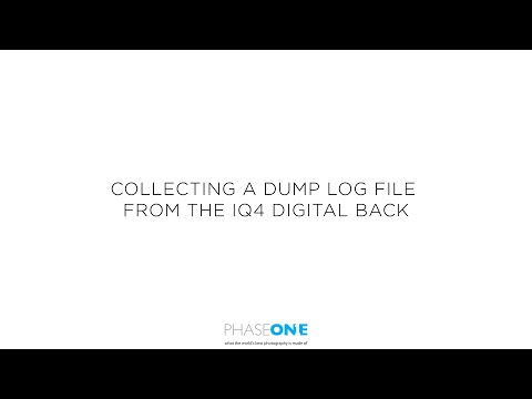 Support | Obtaining a dump log file from the IQ4  | Phase One