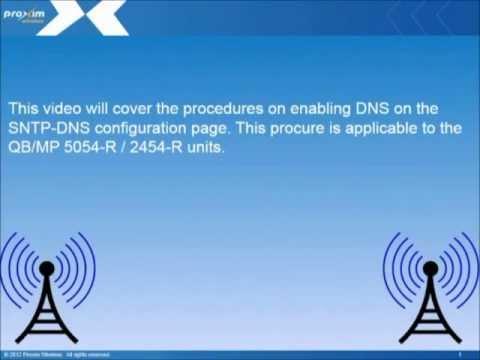 5054-R / 2454-R SNTP-DNS configuration